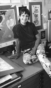 Kay Curtis in her studio